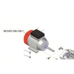 Couvercle métalique rouge pour ventilateur