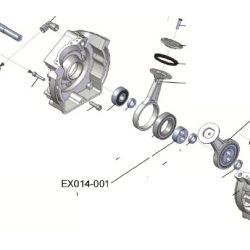 Douille d'arbre ref EX014-001