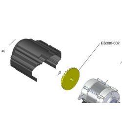 Ventilateur jaune pour moteur elect