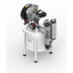 Compresseur dentaire air sec Nardi 2D 2 CV, cuve de 50 litres