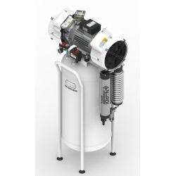 Compresseur dentaire 2D 3CV, cuve de 100 litres