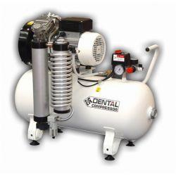 Compresseur dentaire 3D 2 CV, cuve de 50 litres horizontale