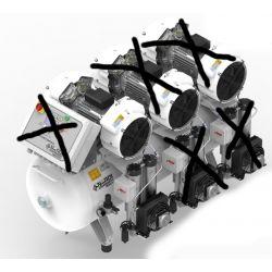 Compresseur dentaire 4D 270 litres 3 CV