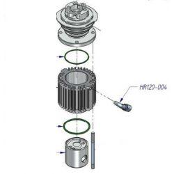 Raccord en L ¼ pour tube diam 6 mm HR120-004