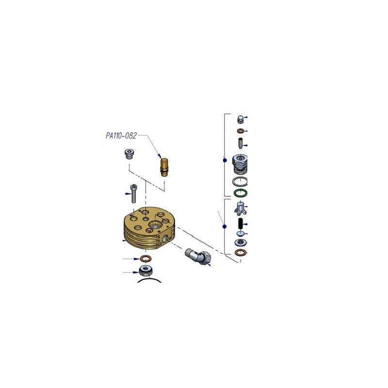 Soupape de sécurité 14 bars pour compresseur HP Nardi