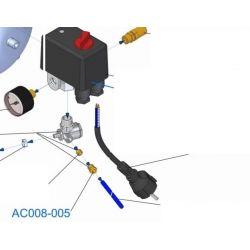 Ecrou pour tube rilsan AC008-005