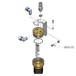 Boulon ref: VB008-012 pièce détaché pour compresseur HP