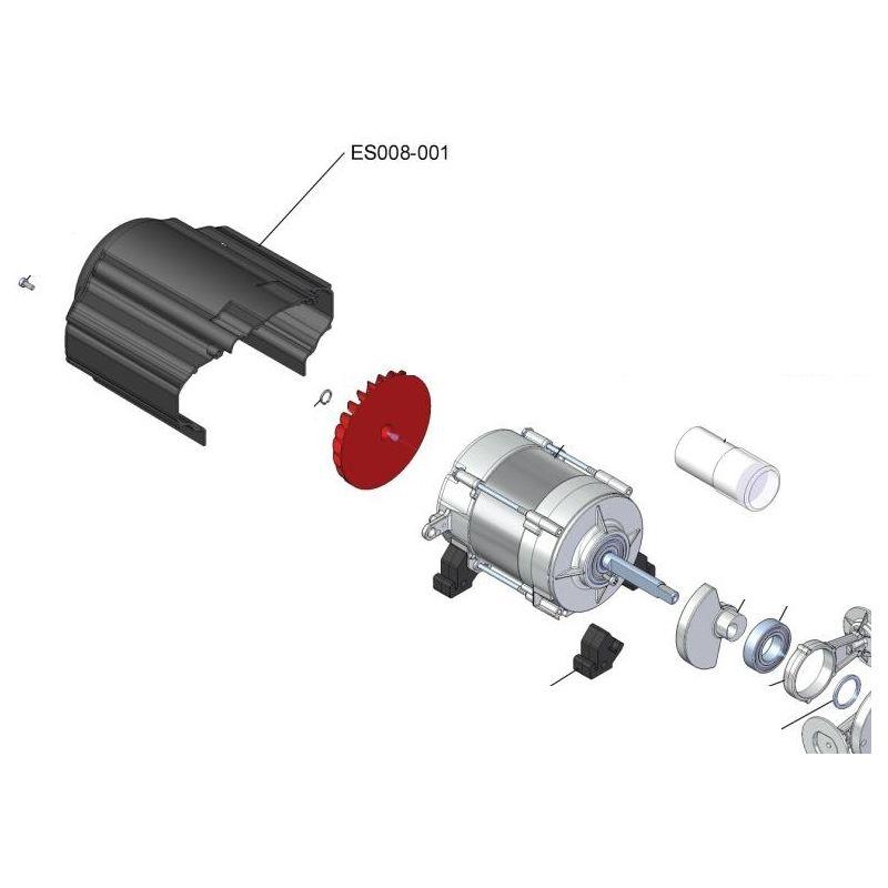 Capot de moteur electrique pour compresseur Esprit