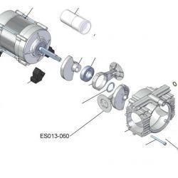 Bielle complete 60 mm avec roulement ES013-060