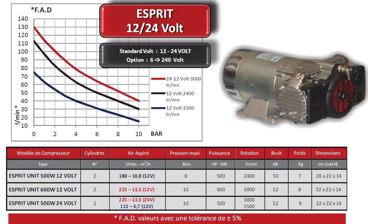 Groupe compresseur d 39 air esprit 12 volts 600 watts - Compresseur 12 volts ...