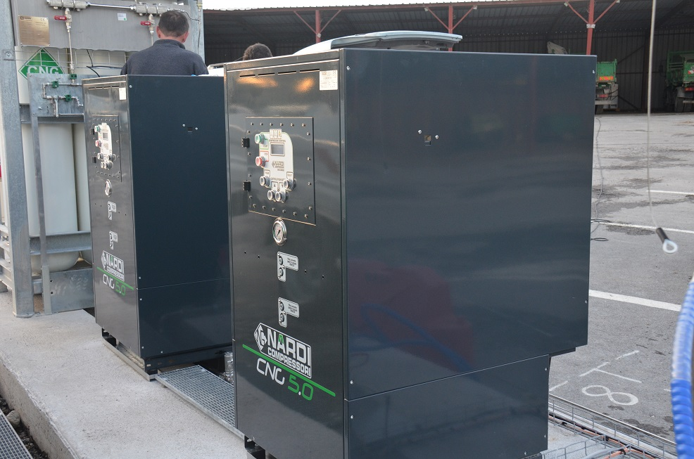 Installation de compresseurs GNV 5 Nardi Compressori à Ales, Transport Bonnefille