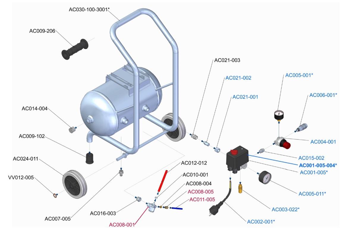 reservoir et accessoires Esprit 1 10 L.